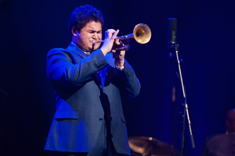 Third-place trumpeter Adam O'Farrill, Monk Institute Competition Gala 2014