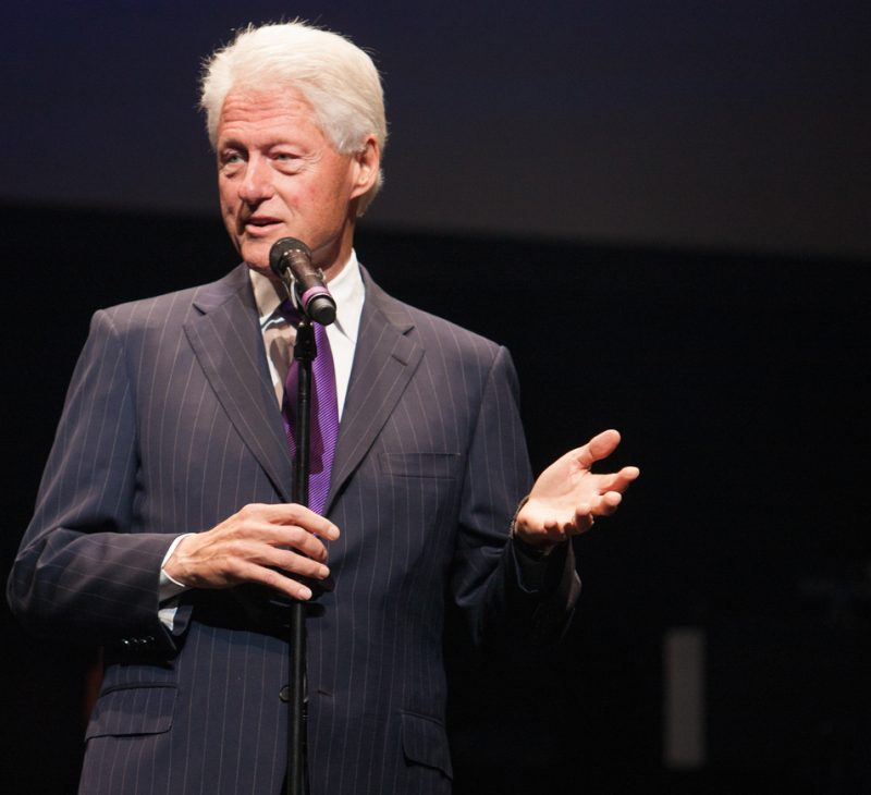 Former President Bill Clinton at the 2014 Monk Institute Competition Gala in L.A.