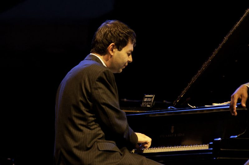Dan Nimmer performing with Wynton Marsalis at the 2011 Newport Jazz Festival