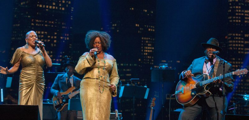 Dee Dee Bridgewater, Dianne Reeves and Taj Mahal at the 2014 Monk Institute Competition Gala