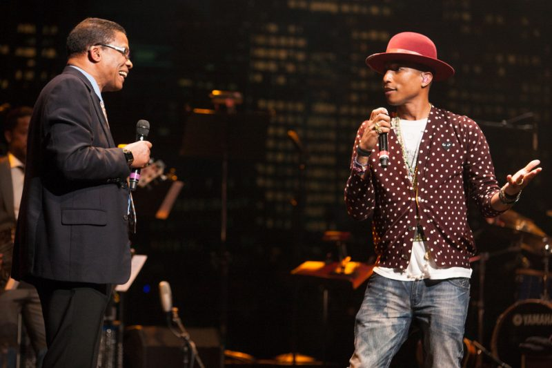 Herbie Hancock and Pharrell Williams at the 2014 Monk Institute Competition Gala in L.A.