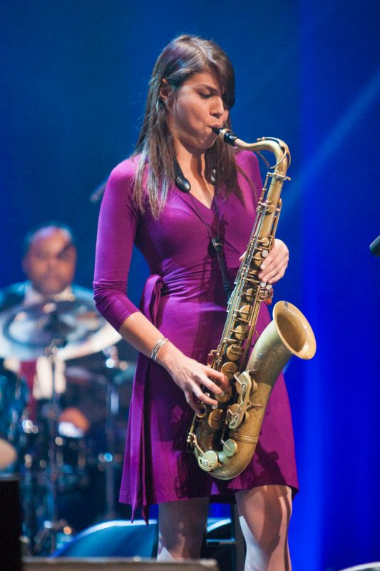 Melissa Aldana at the 2014 Monk Institute International Jazz Competition Gala