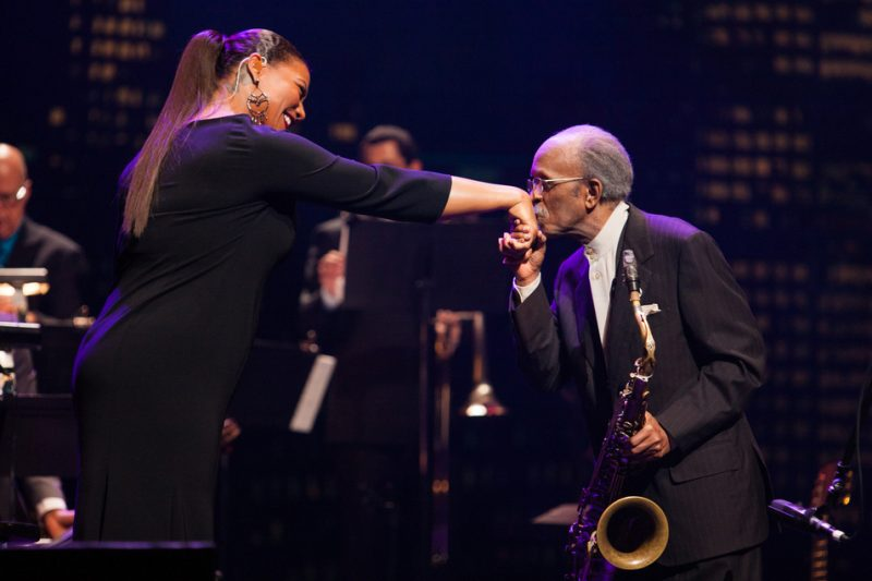 Queen Latifah and Jimmy Heath at the 2014 Monk Institute Competition Gala in L.A.