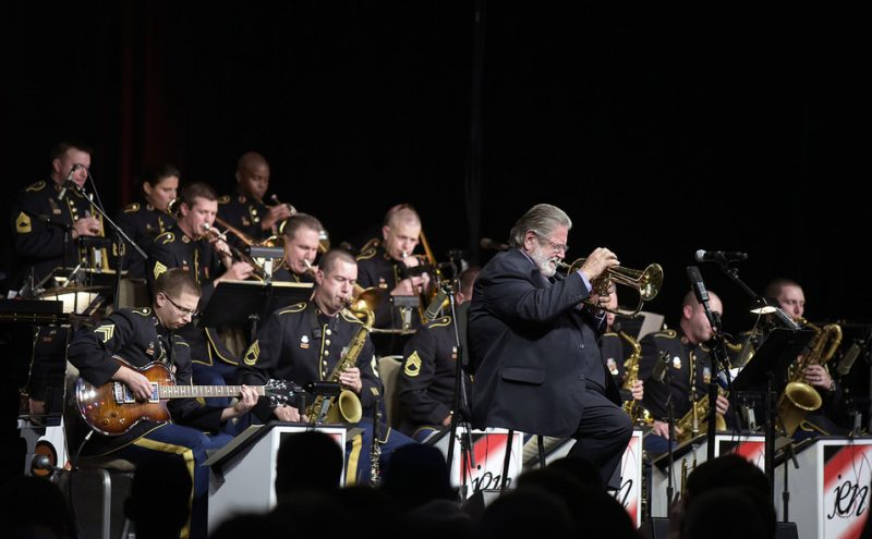 Bobby Shew with the Army Jazz Ambassadors, Jazz Education Network conference, San Diego, 1-15