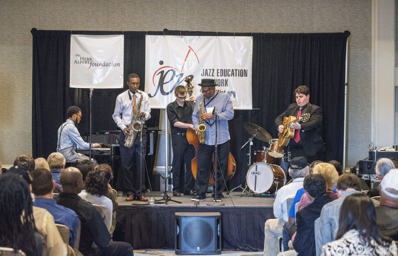 ChiArts Jazz Quintet with Bobby Watson, Jazz Education Network conference, San Diego, 1-15