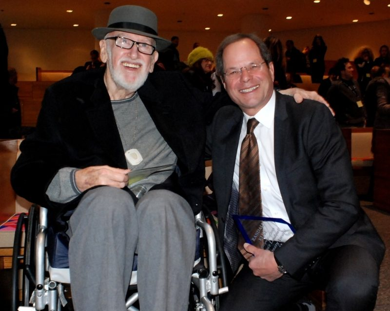 Bruce Lundvall and Randall Kline, recipient of the Bruce Lundvall Visionary Award, at the 2015 Jazz Connect Conference