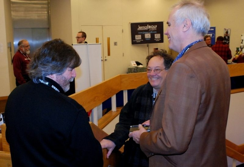 Jim Eigo, Howard Mandel and Lee Mergner at the 2015 Jazz Connect Conference