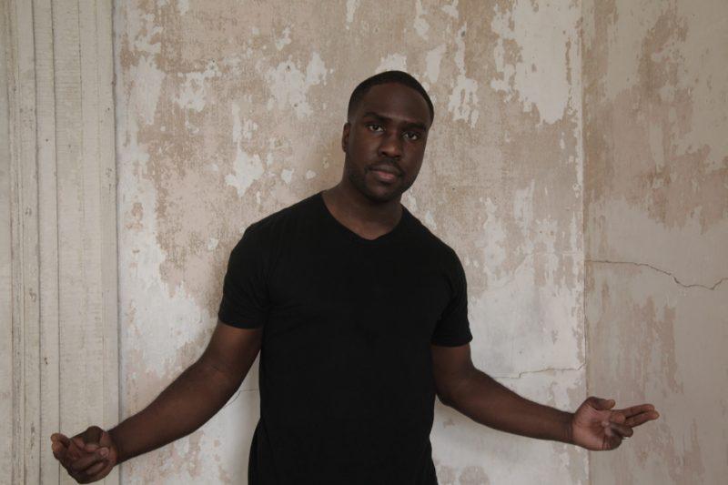 Derrick Hodge, backstage at Newport Jazz Festival 2013 (photo by Melissa Mergner)