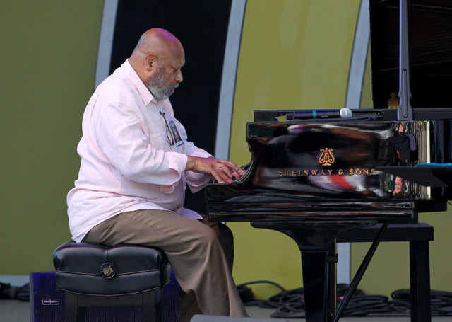 Kenny Barron performs at the 2014 Playboy Jazz Festival
