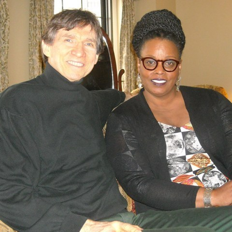 Russ Davis with Dianne Reeves at the 2015 American Pianists Association competition in Indianapolis