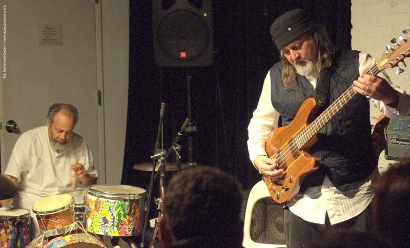 Bill Laswell (r.) with Milford Graves at The Stone, NYC
