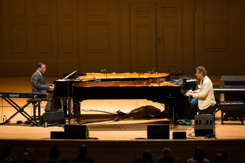 Chick Corea and Herbie Hancock perform a Celebrity Series recital at Symphony Hall in Boston on April 12