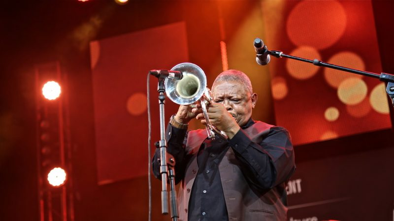 Hugh Masekela at the 2015 Cape Town International Jazz Festival