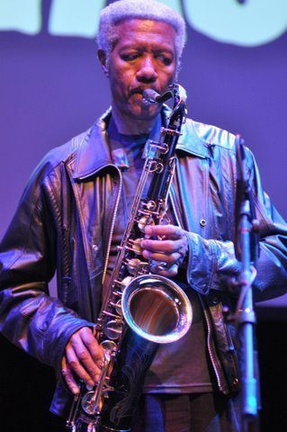 Billy Harper in performance saluting Strata-East at the Barbican Centre in London