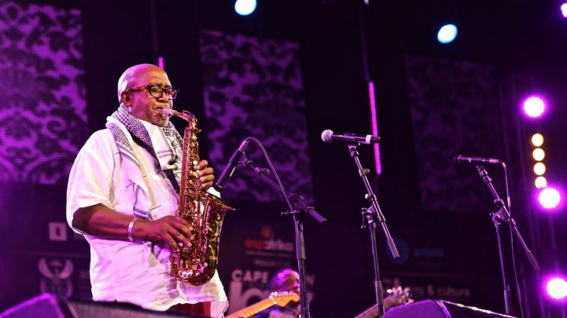 "Sipho ""Hotstix"" Mabuse at the 2015 Cape Town International Jazz Festival"