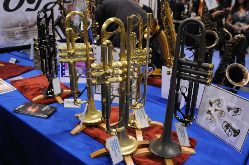 Phaeton B-flat trumpets in new finishes, NAMM Show 2015