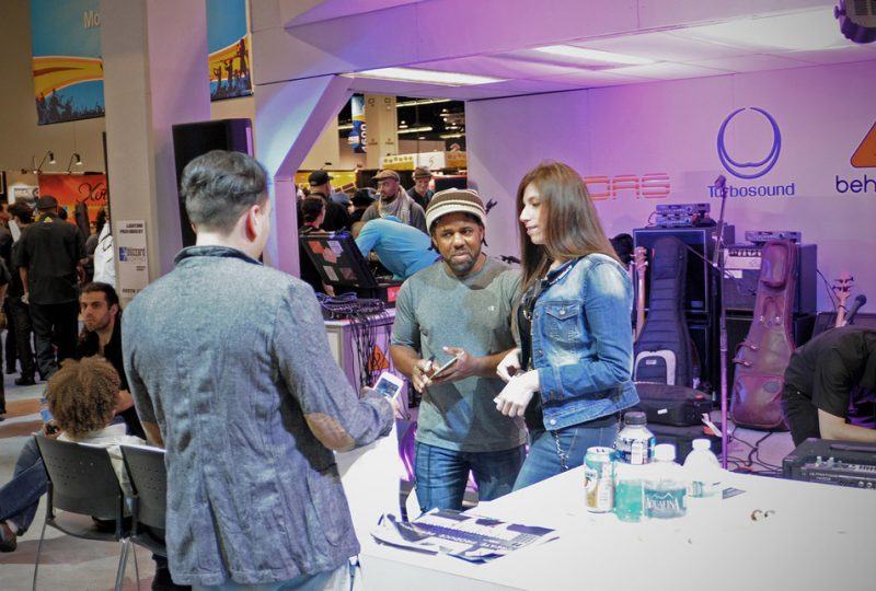 Victor Wooten greets fans, NAMM Show 2015