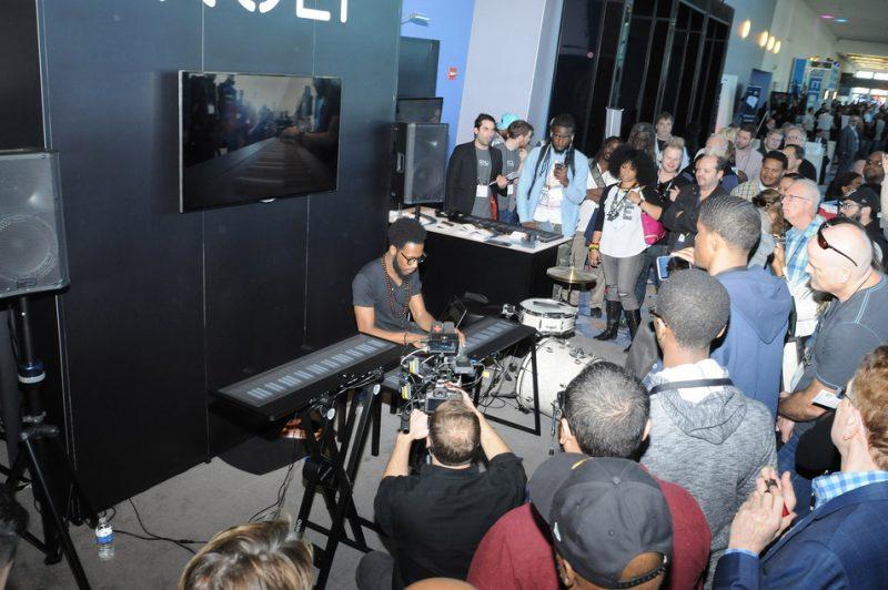 A demo of ROLI's Seaboard Grand, NAMM Show 2015