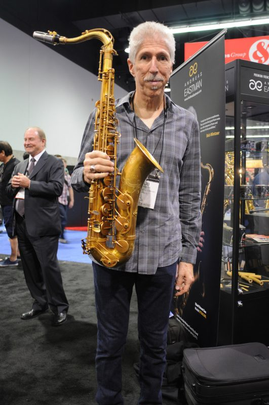 Bob Mintzer at the Eastman booth, NAMM Show 2015