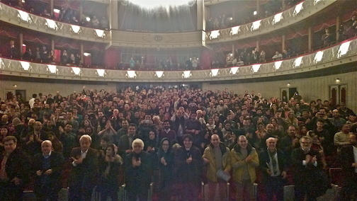 Audience for Animation concert at Vahdat Hall, Tehran, Iran, 2015