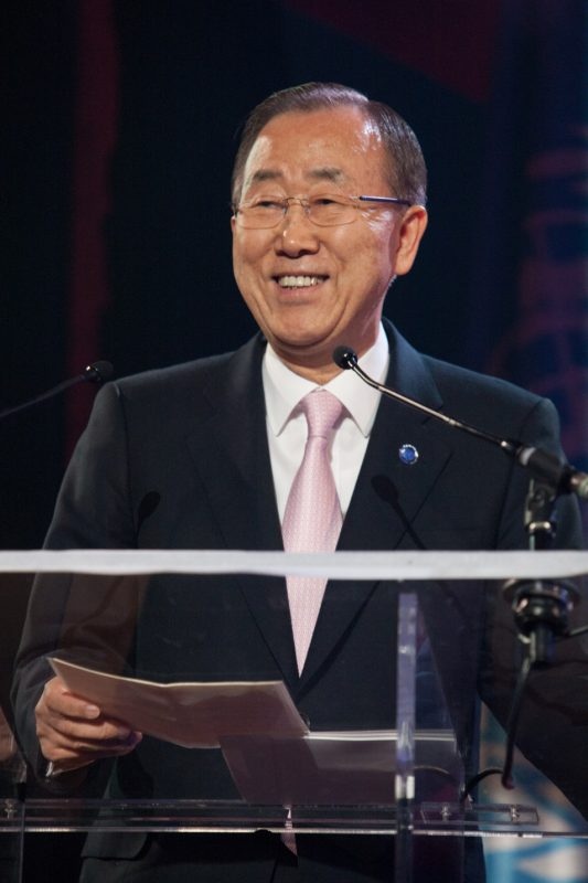 Ban Ki-moon, UN Secretary General, International Jazz Day, Paris, April 30, 2015