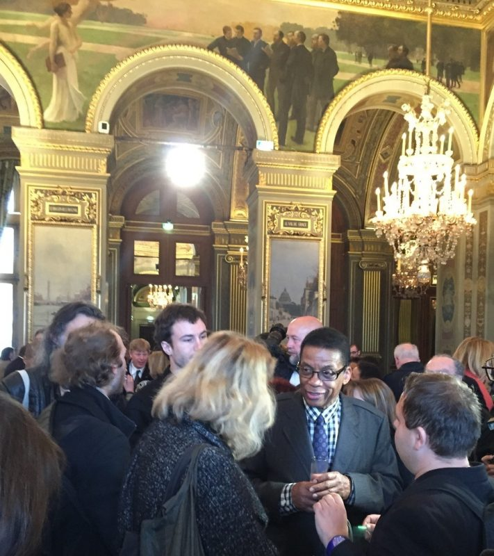 Herbie Hancock at Paris City Hall during International Jazz Day, April 2015