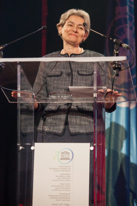 Irina Bokova, Director-General of UNESCO, International Jazz Day, Paris, April 30, 2015