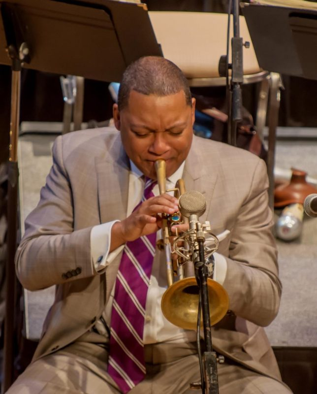 Wynton Marsalis performing with the Jazz at Lincoln Center Orchestra at the Attucks Theatre in Norfolk, Va.