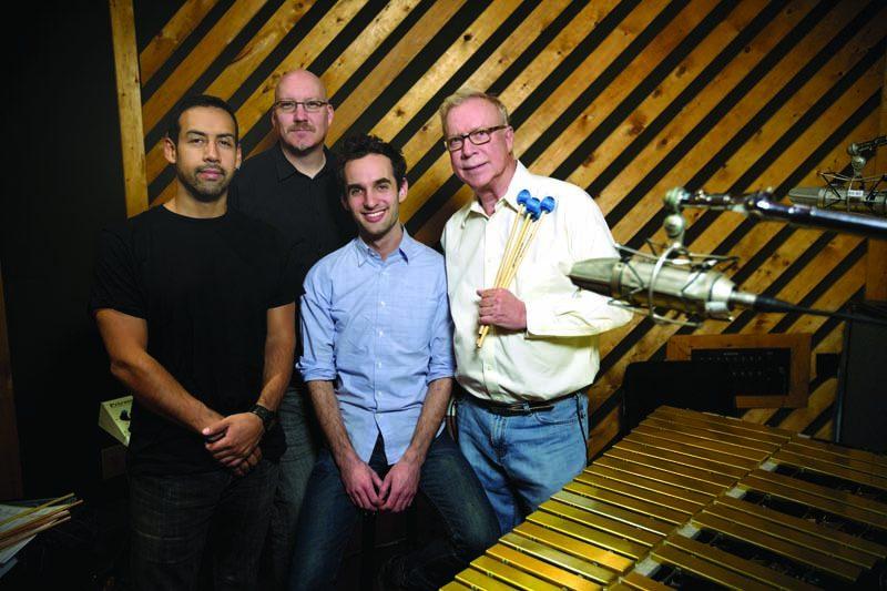 l. to r.: Antonio Sanchez, Scott Colley, Julian Lage. Gary Burton