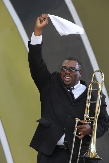 Preservation Hall Jazz Band trombonist Ronell Johnson, Playboy Jazz Festival, 2015