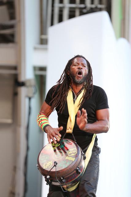 "Third World drummer/percussionist Tony ""Ruption"" Williams, Playboy Jazz Festival, 2015"