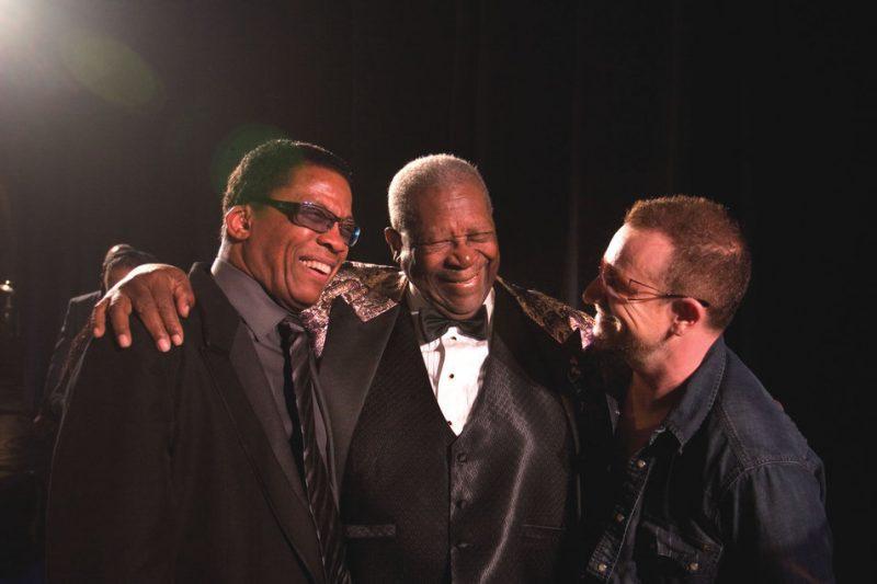 Herbie Hancock, B.B. King and U2's Bono; Oct. 26, 2008, Los Angeles