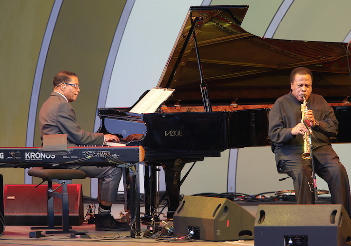 Herbie Hancock and Wayne Shorter, Playboy Jazz Festival, 2015