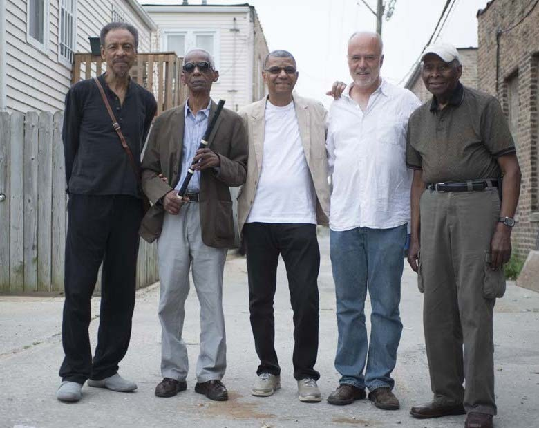Henry Threadgill, Roscoe Mitchell, Jack DeJohnette, Larry Gray and Muhal Richard Abrams (from left), 2013