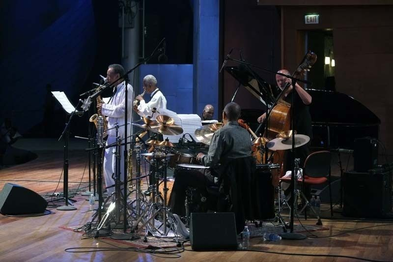 Henry Threadgill, Roscoe Mitchell, Muhal Richard Abrams, Jack DeJohnette and Larry Gray (from left), 2013 Chicago Jazz Festival