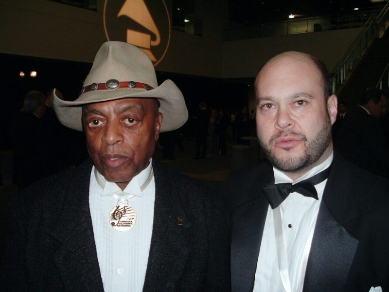 Mosaic Records' Scott Wenzel (r.) with Roy Haynes