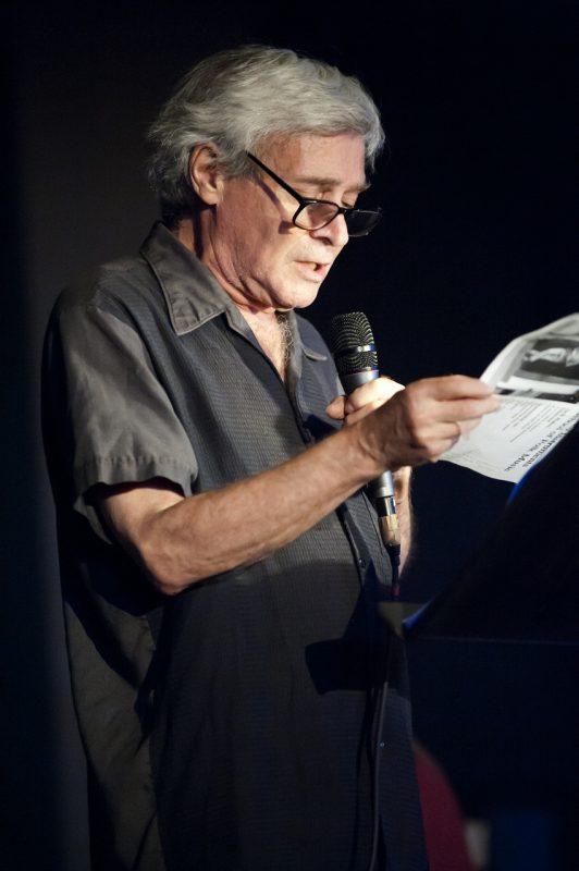 Poet Steve Dalachinsky, Vision Festival, NYC, 2015