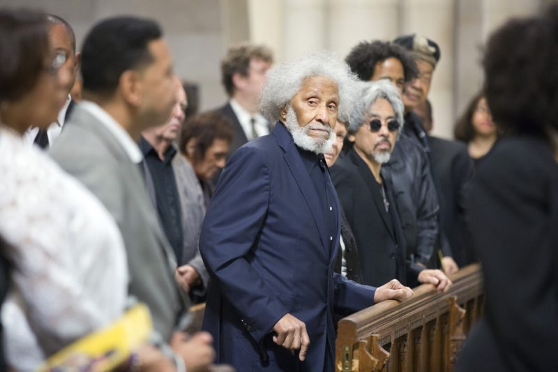 Sonny Rollins attends Ornette Coleman's funeral at the Riverside Church in New York City; June 27, 2015