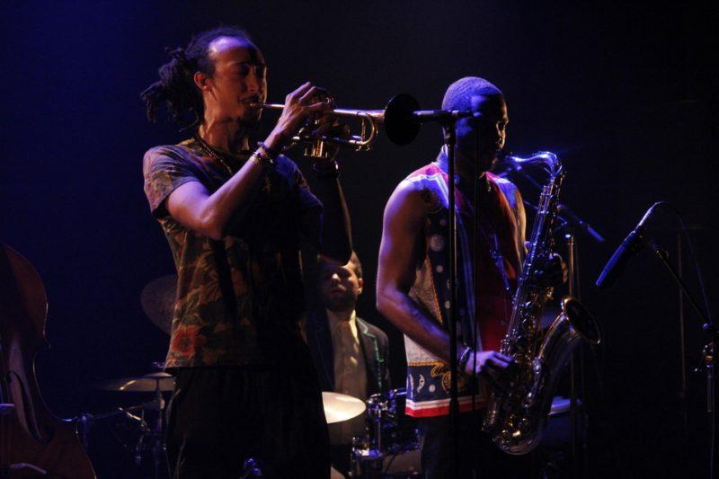 Theo Croker (left), Montreal Jazz Festival 2015