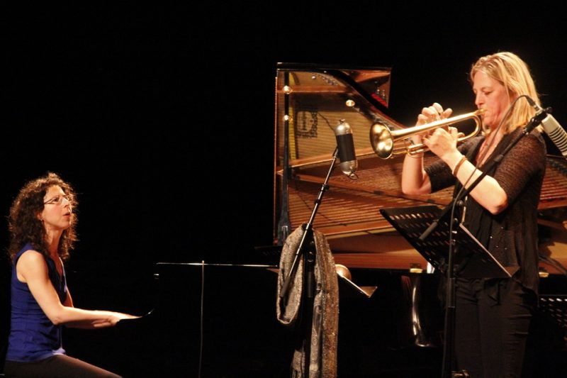 Marianne Trudel (left) and Ingrid Jensen,  Montreal Jazz Festival 2015