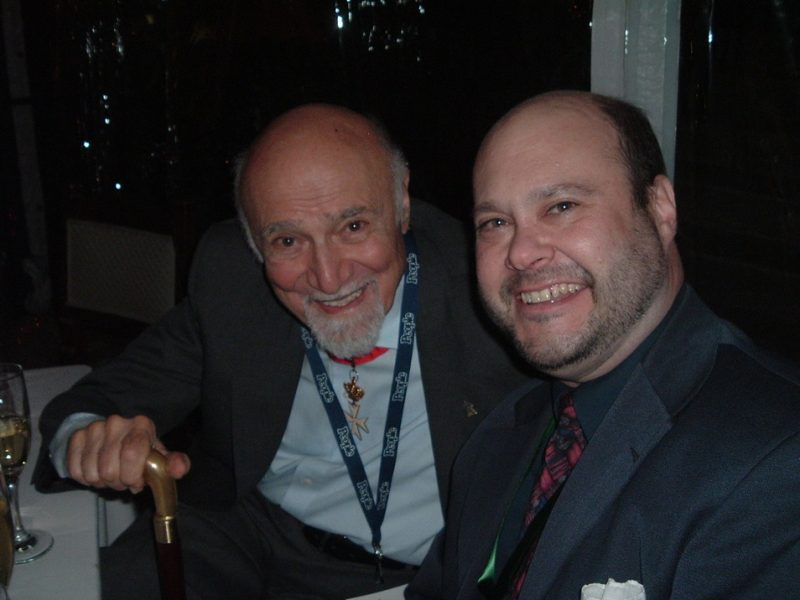 Mosaic Records' Scott Wenzel (r.) with George Avakian