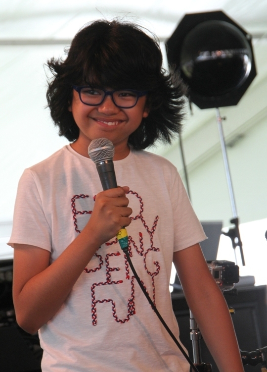 Joey Alexander at his encore mini-set at the 2015 Newport Jazz Festival's Quad Stage