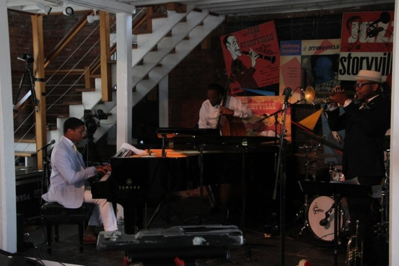 Pianist Christian Sands' quartet inaugurated the new Storyville indoor stage August 1 at the 2015 Newport Jazz Festival