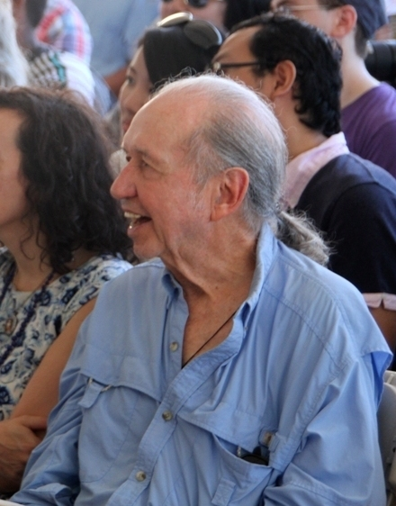 Bob Dorough in the crowd for saxophonist Scott Robinson's 2015 Newport Jazz Festival set