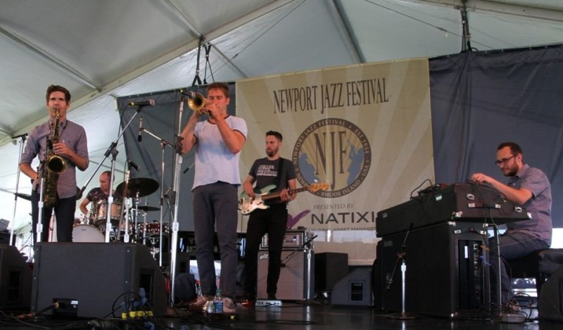Kneebody made its first Newport Jazz Festival appearance, July 2015