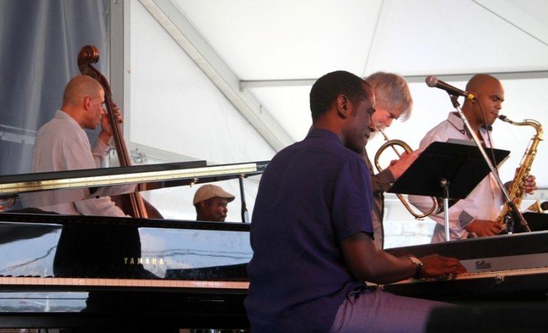 Tom Harrell Quintet (Harrell on trumpet; drummer Johnathan Blake; saxophonist Wayne Escoffery; pianist Danny Grissett; bassist Ugonna Okegwo), 2015 Newport Jazz Festival