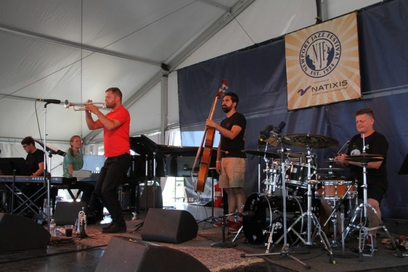 Trumpeter Peter Evans made a quartet appearance at the 2015 Newport Jazz Festival
