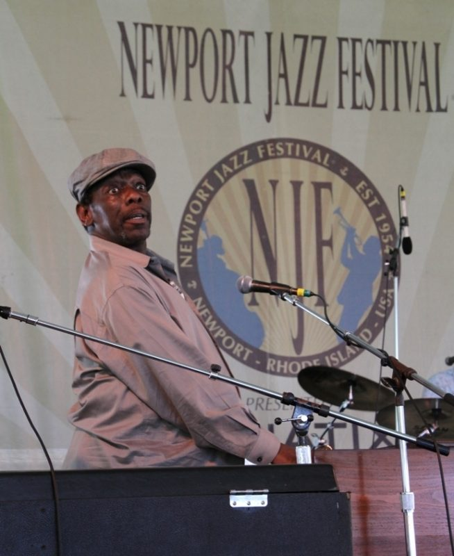 Bluesman Lucky Peterson at the 2015 Newport Jazz Festival