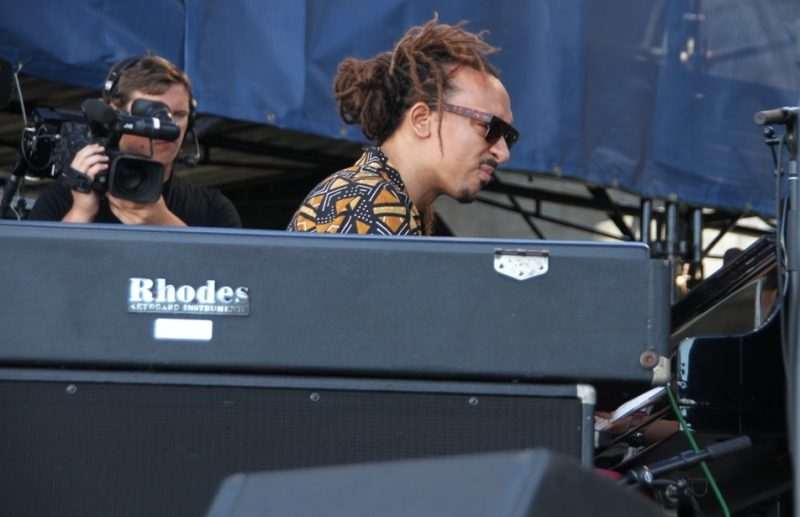 Pianist Gerald Clayton at the 2015 Newport Jazz Festival