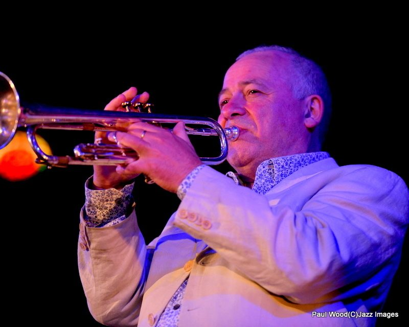 Trumpeter Enrico Tomasso in performance at the 2015 Ealing Jazz Festival
